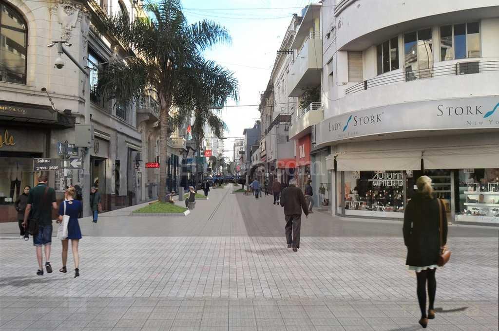 El municipio busca continuar la remodelación de la peatonal -  -