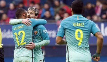 2 goles de Messi para la goleada de Barcelona