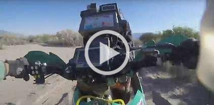 El Dakar, desde arriba de la moto