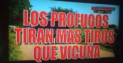 Las placas de Crónica TV, otro recuerdo de la recaptura de los prófugos en Santa Fe