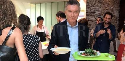 Un almuerzo saludable en la Rosada -