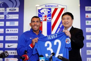 Tevez fue presentado en el Shenhua