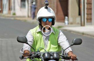 """Un """"robot-inspector"""" vigila el tránsito en el microcentro"""