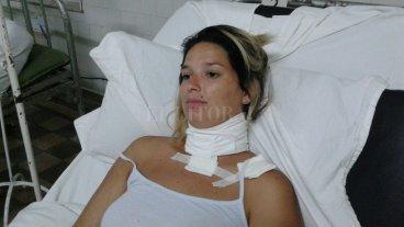 """""""Pensé que me mataba"""" - Gisela Silva fue apuñalada el sábado a la siesta en el Parque Garay -"""