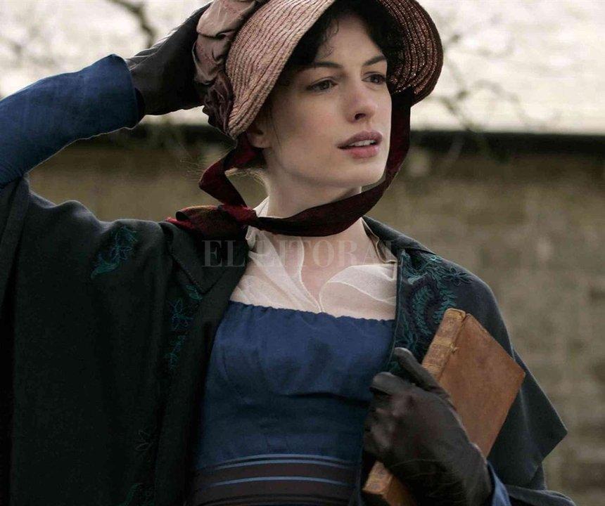 """Anne Hathaway como Jane Austen en """"Amor verdadero"""" (2012).  Miramax"""