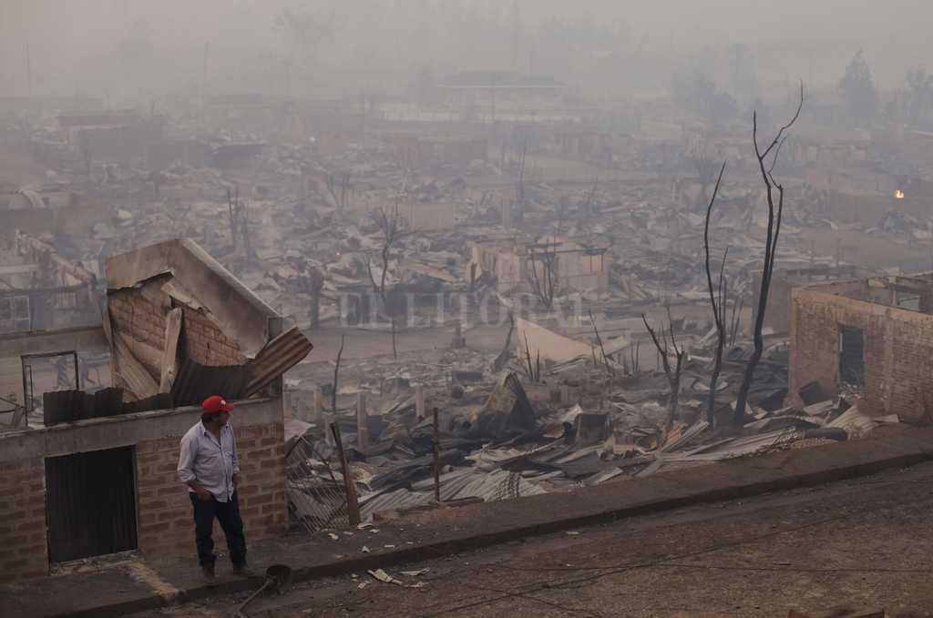 Tras el paso del fuego sólo quedan devastación y dolor. Télam