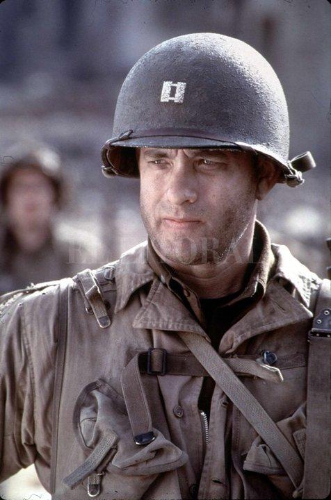 """Tom Hanks en """"Rescatando al soldado Ryan"""", de Steven Spielberg. Archivo El Litoral"""