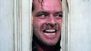 """Jack Nicholson en """"El resplandor"""", dirigida por Stanley Kubrick en 1980.  Archivo El Litoral"""