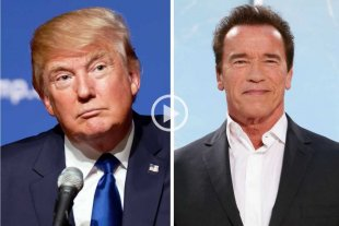 Video: Trump se pelea hasta con Terminator
