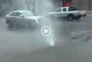 Video: otro géiser en la ciudad de Santa Fe