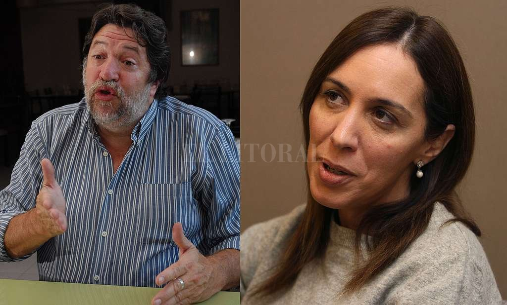 Claudio Lozano y María Eugenia Vidal. Crédito: Archivo El Litoral