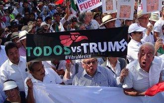 Miles de mexicanos protestaron contra Trump
