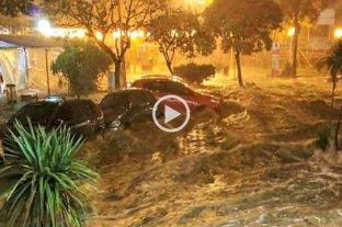 Fuerte tormenta en Villa Carlos Paz