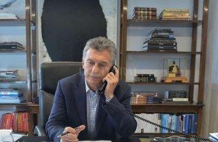 Trump lo llamó por teléfono a mauricio Macri