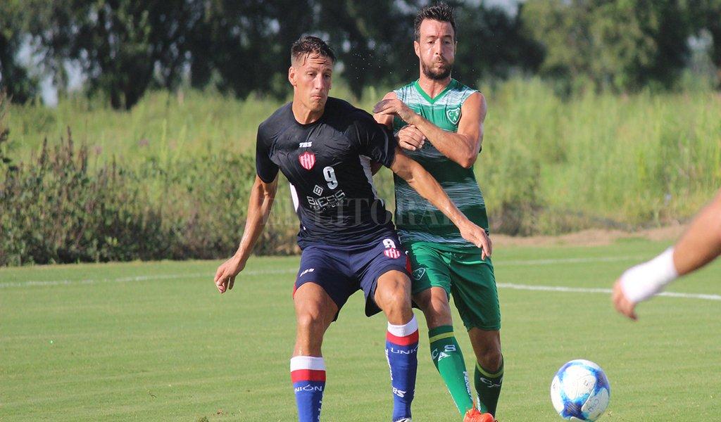 Federico Anselmo fue el autor de uno de los goles tatengues en el encuentro de esta mañana en Casasol. Prensa Club Unión
