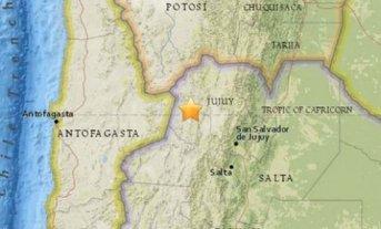 Un fuerte sismo sacudió esta mañana Jujuy