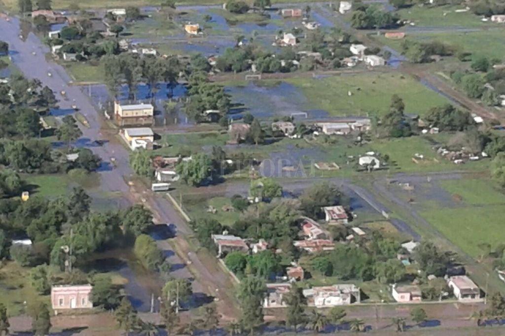 San Cristóbal, 9 de Julio y San Justo afectados por el agua - Son muchas las localidades afectadas por el agua.  -