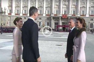 Los reyes de España recibieron a Macri y su esposa