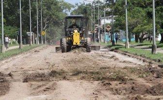 Reparan la calle del Parque Federal