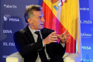 """Macri en España: """"Argentina va a crecer, pero la reforma debe ser gradual"""""""
