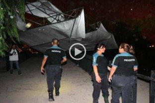 Fiesta de la Vendimia: Una tormenta arrancó el techo del escenario