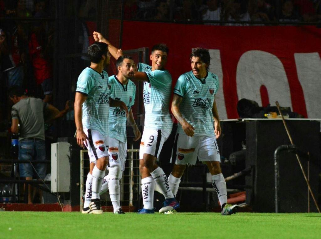 Nicolás Leguizamón festeja su gol. Mauricio Garín