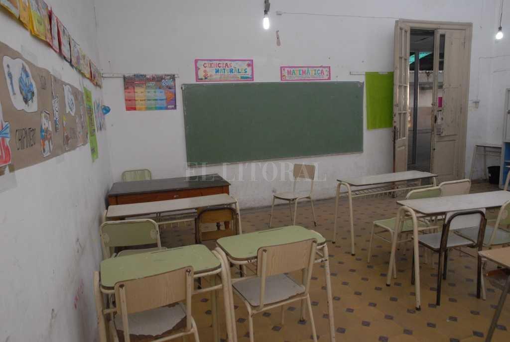 Aulas vacías en la mayoría de los distritos <strong>Foto:</strong> Archivo El Litoral / Flavio Raina