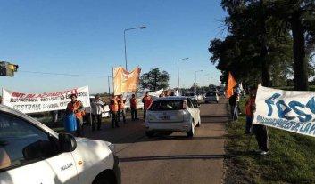 Protesta de municipales en San Carlos Centro