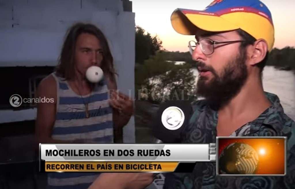 Un canal de Villa del Rosario entrevistó a Yoel Botta el mes pasado, en su paso por la ciudad cordobesa. Captura digital