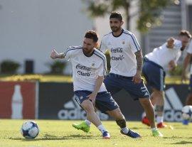Argentina volvió a entrenar en Ezeiza