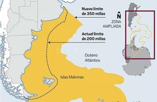 Argentina extiende su límite exterior de la plataforma continental