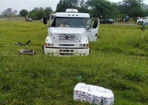 Fatal choque de camiones