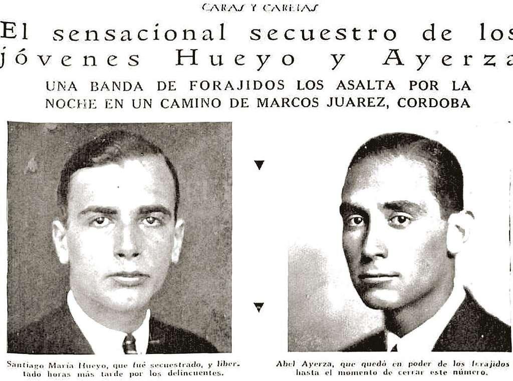 Imagen del secuestro de los jóvenes Hueyo y Ayerza en Caras y Caretas. <strong>Foto:</strong> Archivo