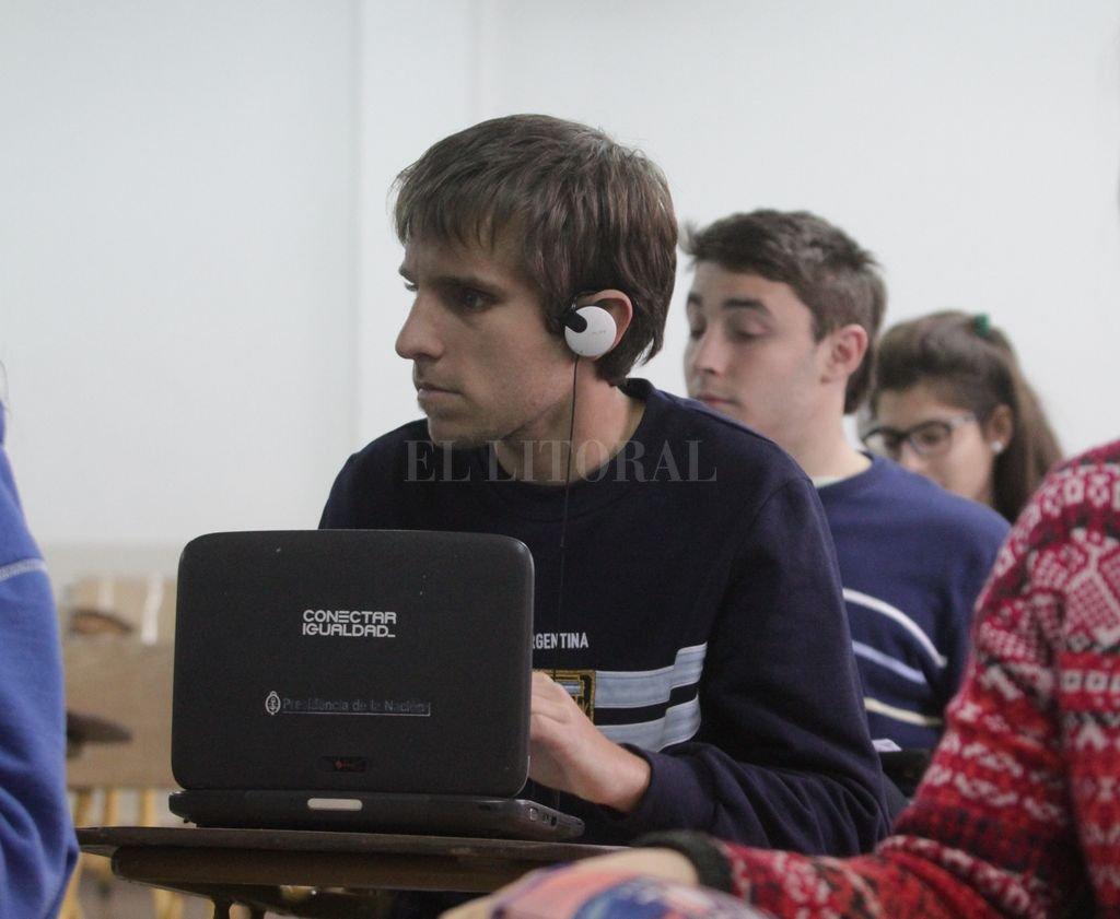 Bruno Rodriguez el estudiante ciego que cursa la carrera de ingeniería en la UTN integra el plantel de los Murciélagos. <strong>Foto:</strong> Archivo - Mauricio Garín