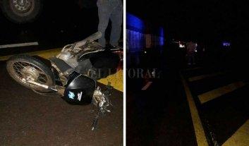 Motociclista fallecido tras choque en el norte provincial