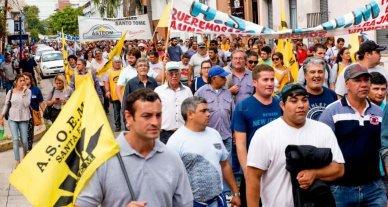 Multitudinarias concentraciones de Festram en Santa Fe y Rosario