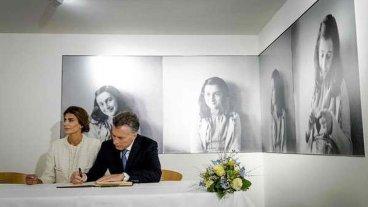Macri visitó la casa de Ana Frank
