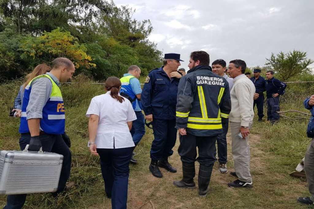 La policía de Entre Ríos trabajaba en el lugar <strong>Foto:</strong> El Diario (Paraná)