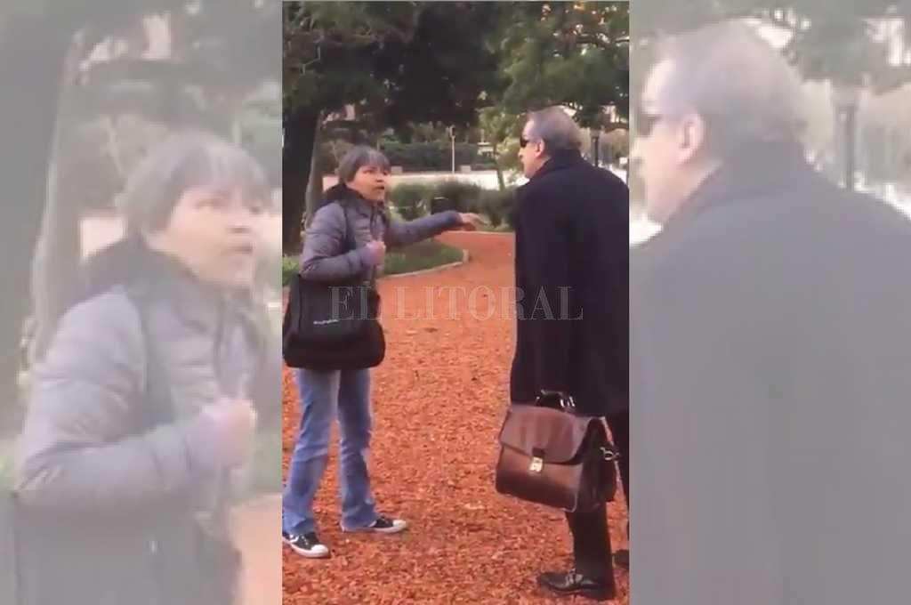 Incómodo momento para Moreno: fue increpado en una plaza