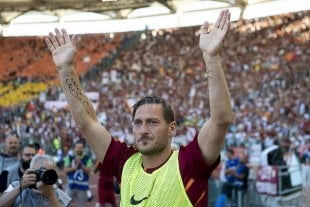 Se despidió Francesco Totti -