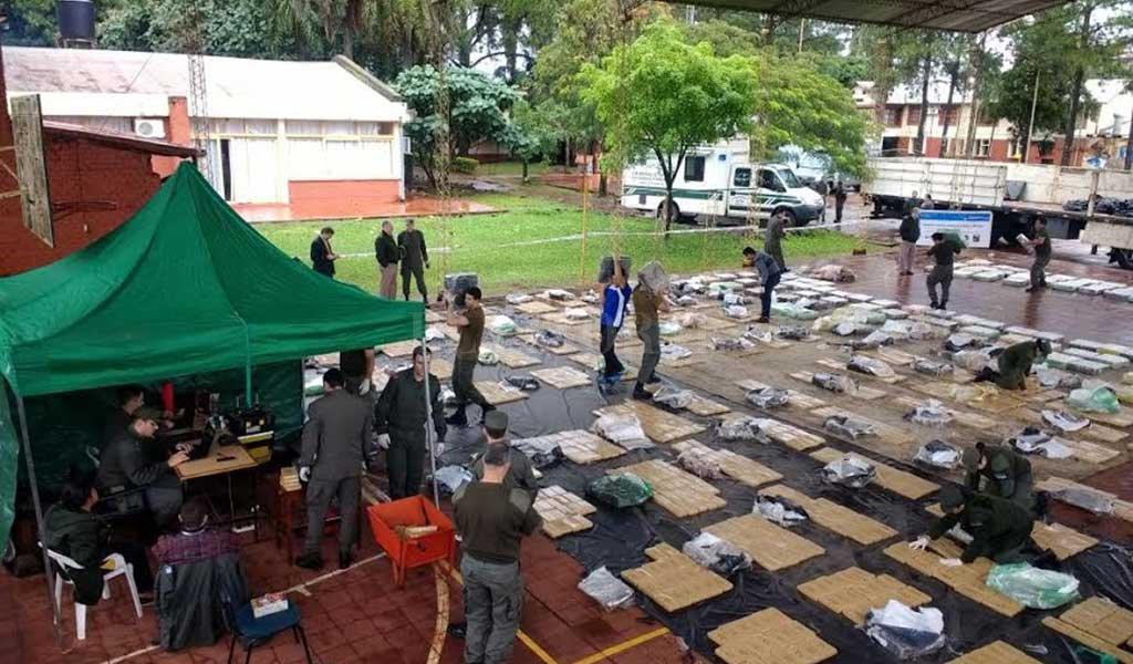 Gendarmería secuestró 4,5 t de marihuana en un control en Misiones