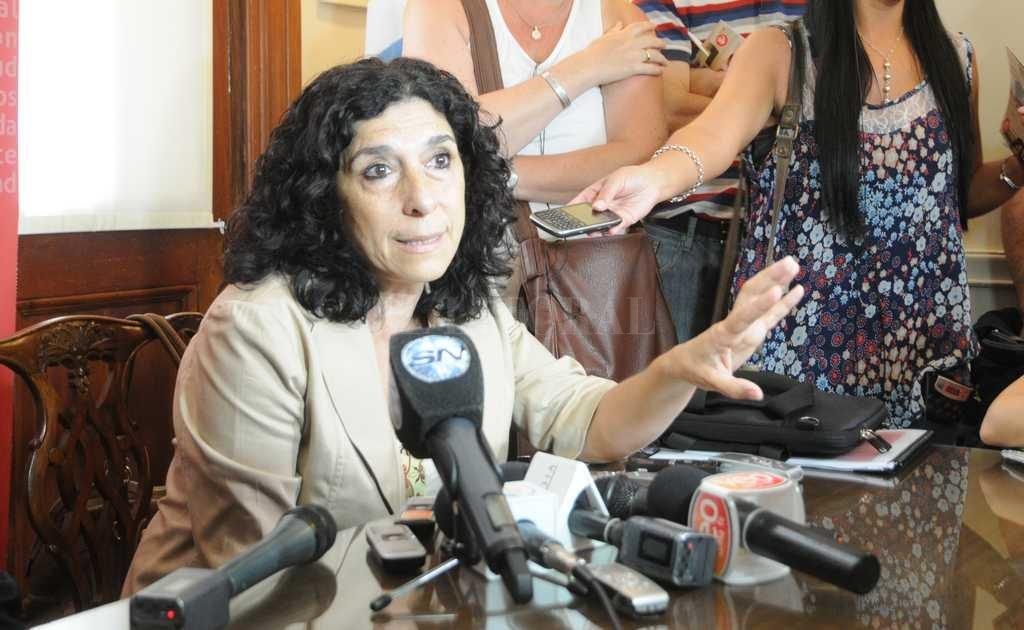Mónica Bifarello cuando era ministra de Desarrollo Social de la Provincia Crédito: Archivo El Litoral