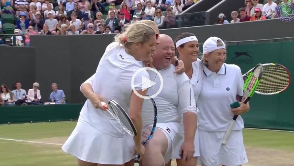 Gritaba, lo invitaron a jugar e hizo un papelón — Wimbledon