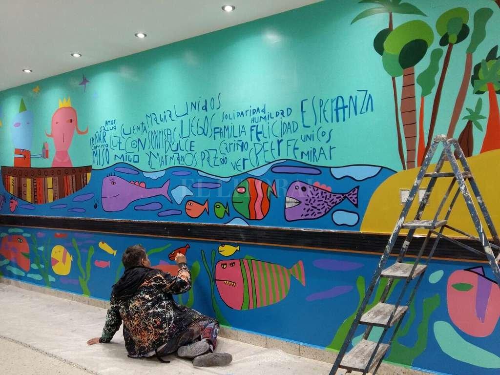 Milo lockett pint un mural para los ni os con c ncer del for El mural pelicula argentina
