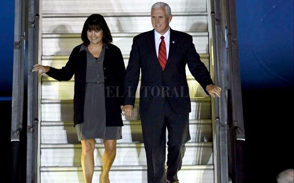 Vicepresidente de EU, Mike Pence llega a Chile