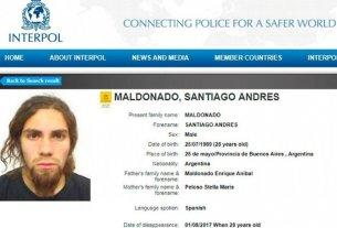 Interpol se suma a la búsqueda de Santiago Maldonado