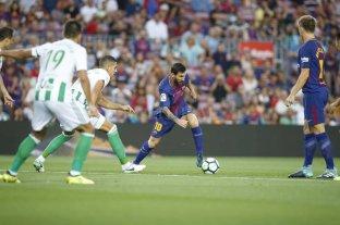 En un partido emotivo, Barcelona debutó con un triunfo ante el Betis