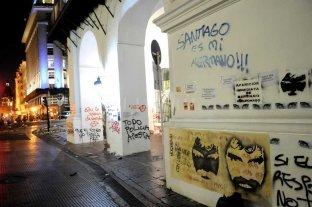 Incidentes y detenidos tras la marcha por Santiago Maldonado