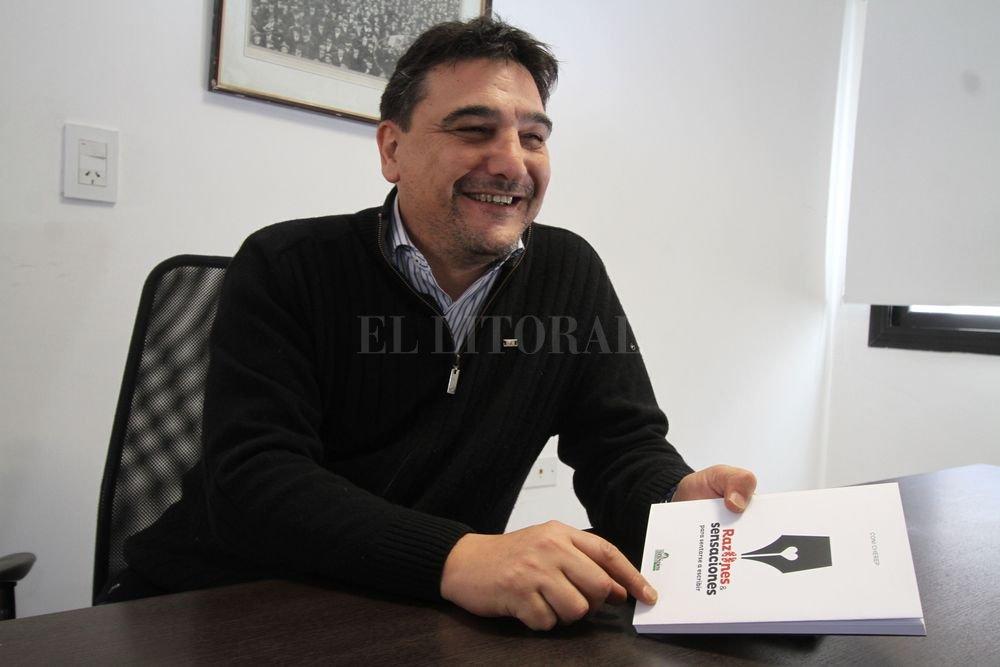 """""""Tenemos que generar nuestros propios medios"""", dijo Cherep a El Litoral. Crédito: Guillermo Di Salvatore"""