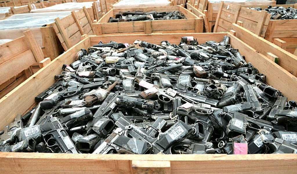 Garavano y Bullrich destruirán más de 32 mil armas
